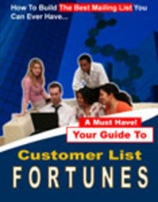 Product picture Customer List Fortunes - Earn Easy Money